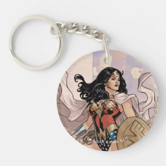 Wonder Woman Comic Cover #13 Double-Sided Round Acrylic Key Ring