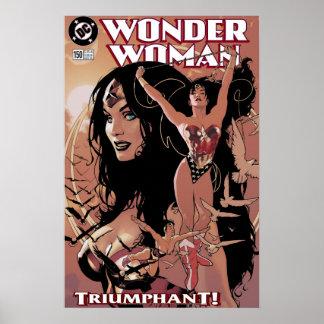 Wonder Woman Comic Cover #150: Triumphant Poster