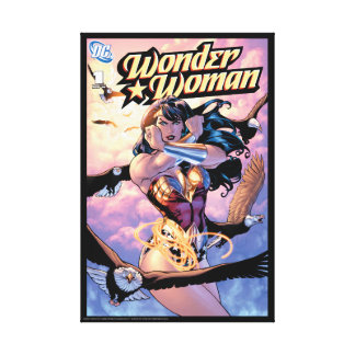Wonder Woman Comic Cover #1 Canvas Print