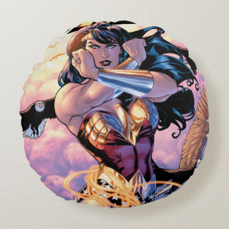 Wonder Woman Comic Cover #1 Round Cushion