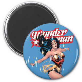 Wonder Woman Comic Cover 6 Cm Round Magnet