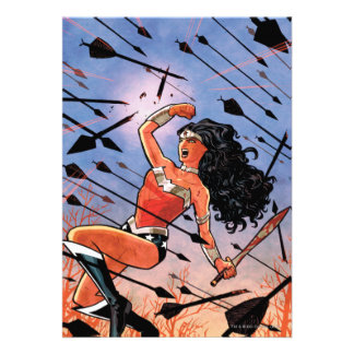 Wonder Woman Cover 1 Custom Invites
