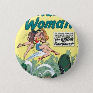 Wonder Woman Crocodiles 6 Cm Round Badge