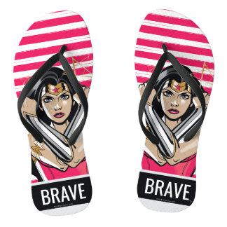 Wonder Woman Defend - Template Flip Flops