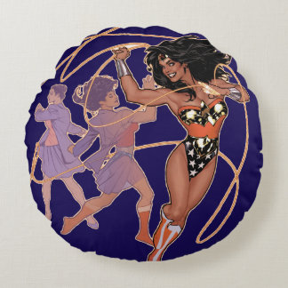 Wonder Woman Diana Prince Transformation Round Cushion
