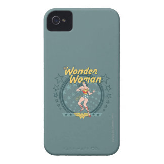 Wonder Woman Distressed Star Design iPhone 4 Covers