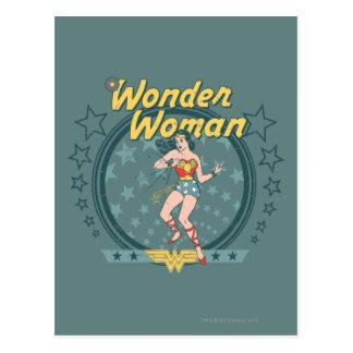 Wonder Woman Distressed Star Design Postcard