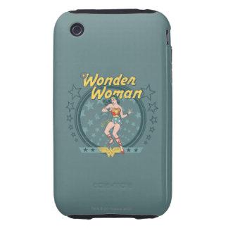 Wonder Woman Distressed Star Design Tough iPhone 3 Cases