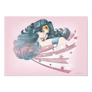 Wonder Woman Dolphin and Stripes 13 Cm X 18 Cm Invitation Card