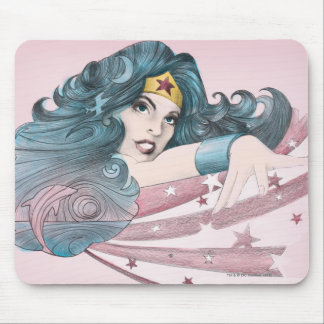 Wonder Woman Dolphin and Stripes Mouse Mat