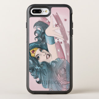 Wonder Woman Dolphin and Stripes OtterBox Symmetry iPhone 8 Plus/7 Plus Case