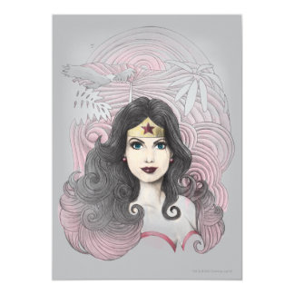 Wonder Woman Eagle and Trees 13 Cm X 18 Cm Invitation Card
