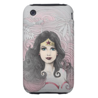 Wonder Woman Eagle and Trees iPhone 3 Tough Case