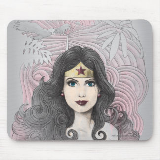 Wonder Woman Eagle and Trees Mouse Mat