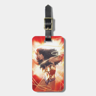 Wonder Woman Encyclopedia Cover Luggage Tag