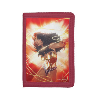 Wonder Woman Encyclopedia Cover Trifold Wallet