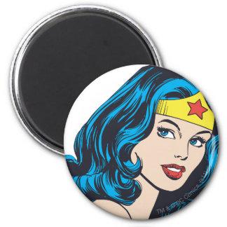 Wonder Woman Face 6 Cm Round Magnet