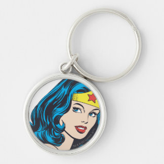 Wonder Woman Face Key Ring
