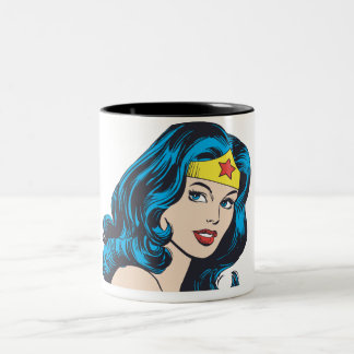 Wonder Woman Face Two-Tone Coffee Mug