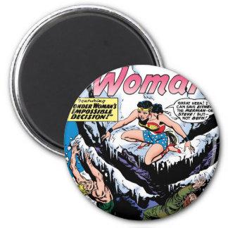Wonder Woman Featuring Wonder Girl 6 Cm Round Magnet