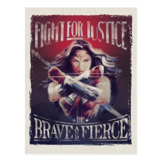 Wonder Woman Fight For Justice Postcard