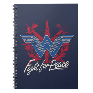 Wonder Woman Fight For Peace Symbol Notebooks