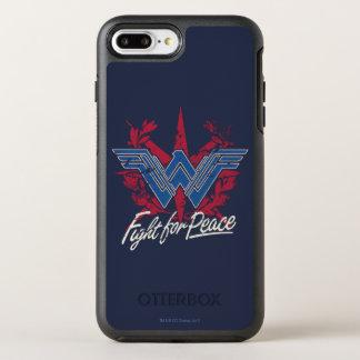 Wonder Woman Fight For Peace Symbol OtterBox Symmetry iPhone 8 Plus/7 Plus Case
