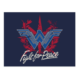 Wonder Woman Fight For Peace Symbol Postcard