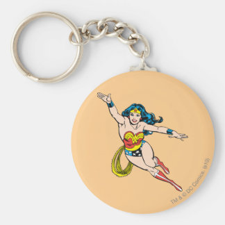 Wonder Woman Flying Forward Key Ring