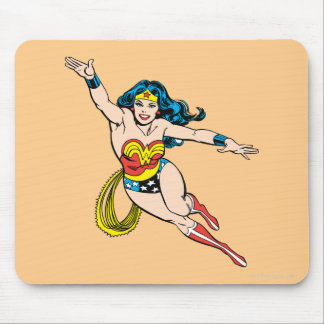 Wonder Woman Flying Forward Mouse Pad