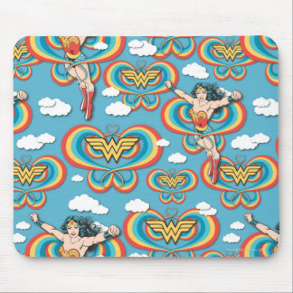 Wonder Woman Flying High Pattern Mouse Pad