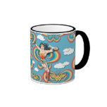 Wonder Woman Flying High Pattern Ringer Mug