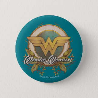Wonder Woman Foliage Sketch Logo 6 Cm Round Badge