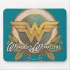 Wonder Woman Foliage Sketch Logo Mouse Mat