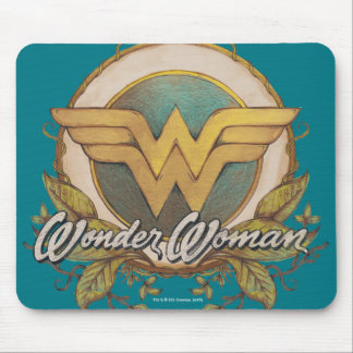 Wonder Woman Foliage Sketch Logo Mouse Mat