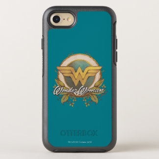 Wonder Woman Foliage Sketch Logo OtterBox Symmetry iPhone 8/7 Case