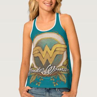 Wonder Woman Foliage Sketch Logo Tank Top