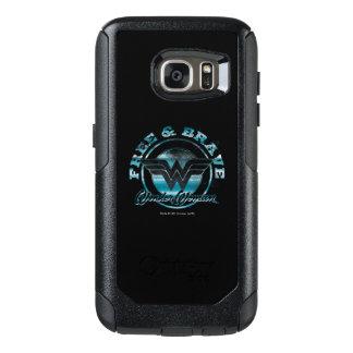Wonder Woman Free & Brave Grunge Graphic OtterBox Samsung Galaxy S7 Case