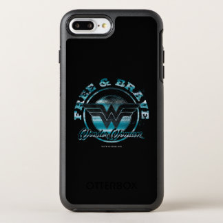 Wonder Woman Free & Brave Grunge Graphic OtterBox Symmetry iPhone 8 Plus/7 Plus Case