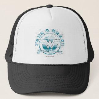 Wonder Woman Free & Brave Grunge Graphic Trucker Hat