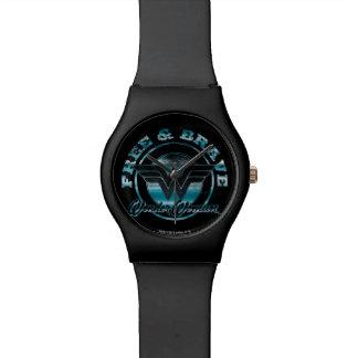 Wonder Woman Free & Brave Grunge Graphic Wrist Watches