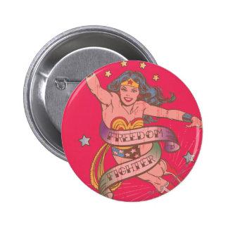 Wonder Woman Freedom Fighter 6 Cm Round Badge