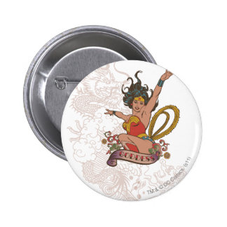 Wonder Woman Goddess 6 Cm Round Badge