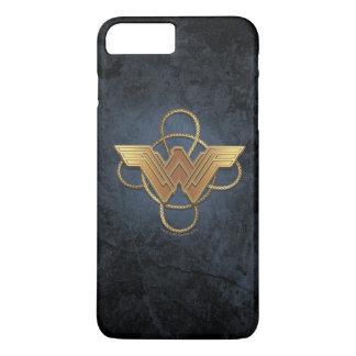 Wonder Woman Gold Symbol Over Lasso iPhone 8 Plus/7 Plus Case
