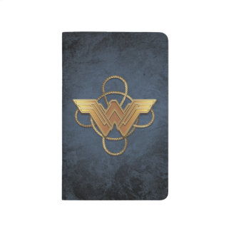 Wonder Woman Gold Symbol Over Lasso Journal