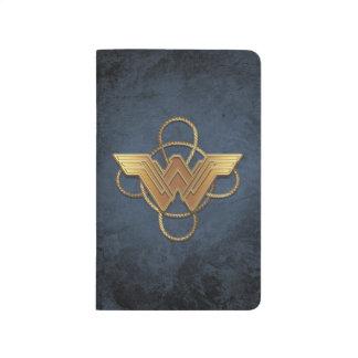 Wonder Woman Gold Symbol Over Lasso Journals