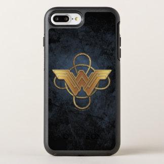 Wonder Woman Gold Symbol Over Lasso OtterBox Symmetry iPhone 8 Plus/7 Plus Case