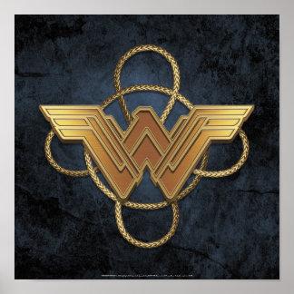 Wonder Woman Gold Symbol Over Lasso Poster