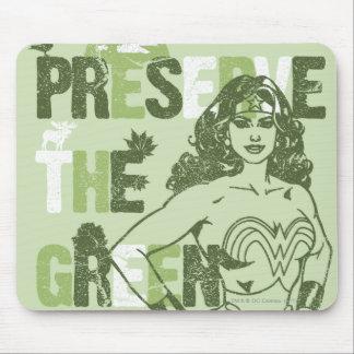 Wonder Woman Green Future Mouse Pad