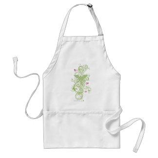 Wonder Woman Green Swirls Logo Standard Apron